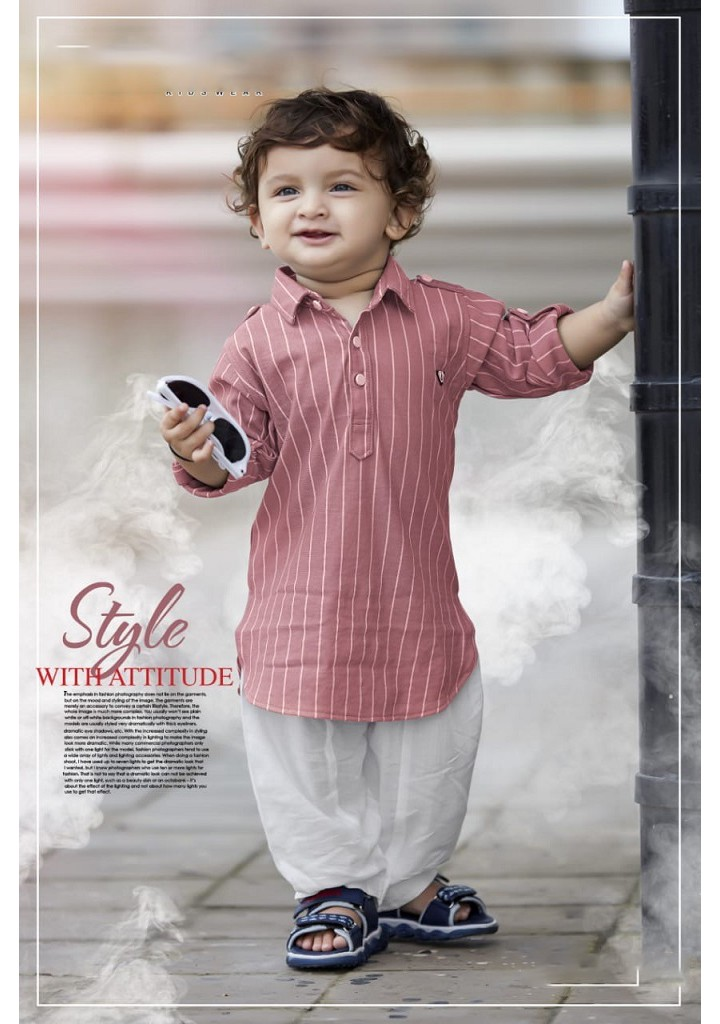 small boys kurta & pyjama set - pink