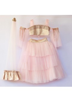 PINK AND GOLD LEHE..