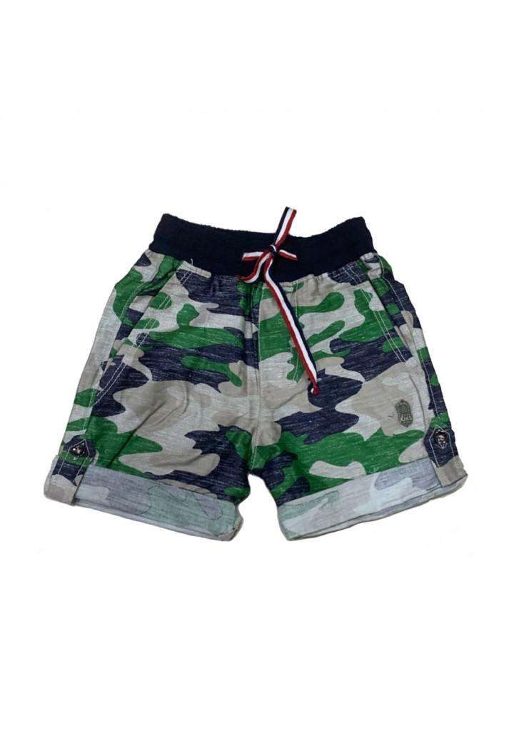 Boys cotton military shorts-gren