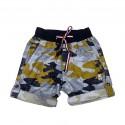 Boys cotton military shorts-yellow