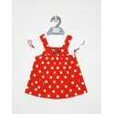 Baby girls dungaree frock-red