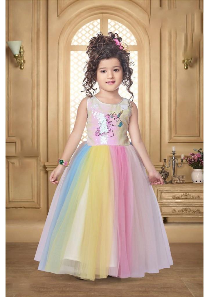 Girls unicorn ballgown
