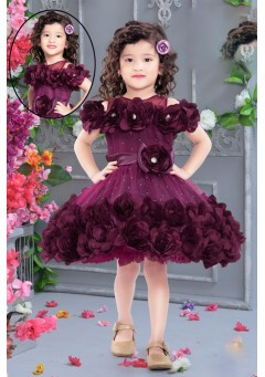 Girls frock wine
