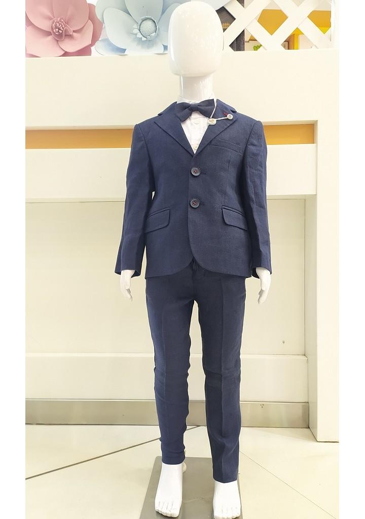 Boys 3 piece coat suit-navy