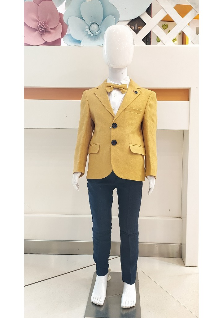 Boys 3 piece coat suit-mustard