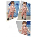 Boys 3 piece Blazer style jacket and pant set-peach
