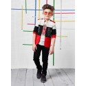 Boys 3 piece Blazer style jacket and pant set-red
