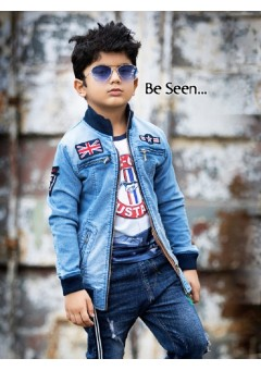 Boys denim zipper ..