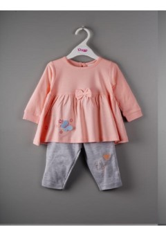 Girls peach peplum..
