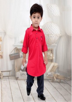 Boys red pathani ..